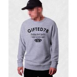 Свитшот Gifted #420 серый