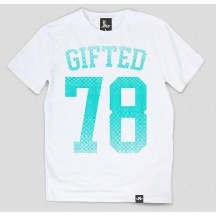 Белая футболка Gifted78 с принтом