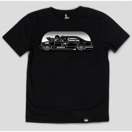 Черная футболка Gifted с принтом
