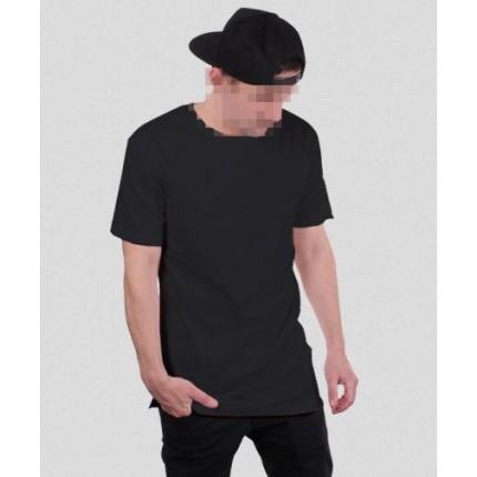 Черная удлиненная футболка Gifted